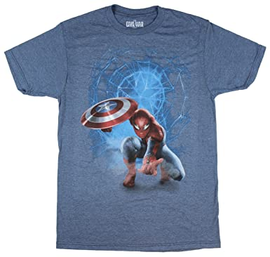 22af68d7 Marvel Comics Spider-Man Captain America Civil War Graphic T-Shirt - Small