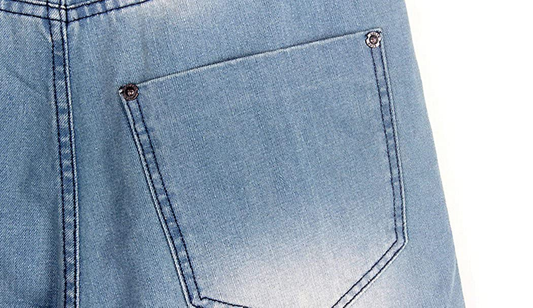 R Mens Faded Baggy Jeans Light Blue 30-46 MR