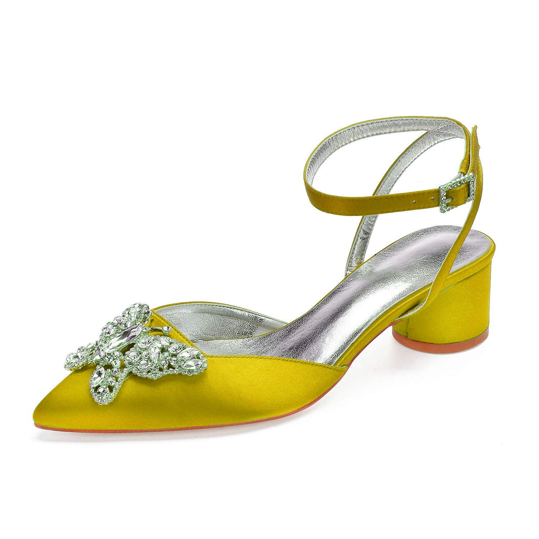 Zxstz Damenschuhe Damenschuhe Damenschuhe Satin Frühling Sommer Komfort Hochzeit Spitz Schuhe Bogen Strass Weiß Elfenbein Gericht Schuhe 9ba2a8