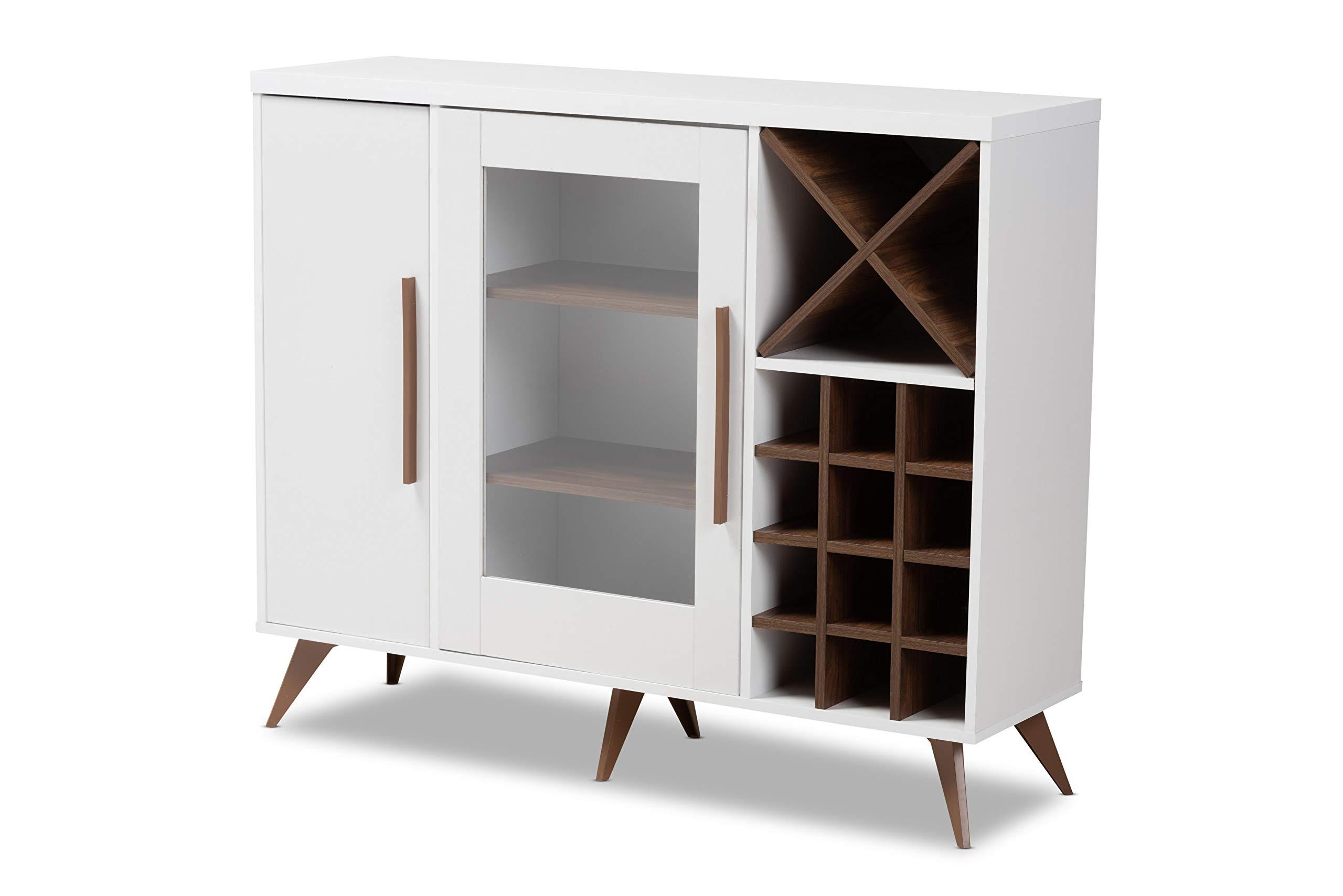 Baxton Studio Wine Cabinets, White by Baxton Studio