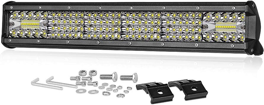 "10/"" Inch 108W Quad Row LED Light Work Bar Spot Flood Combo Car Offroad SUV ATV"