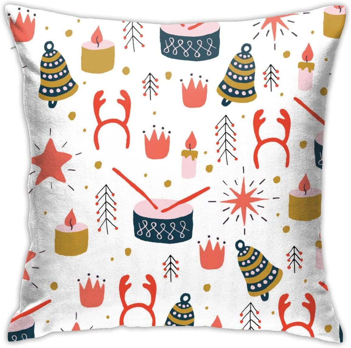 European Modern Minimalist Abstract Pattern Throw Pillow Christmas Seamless Pattern With Toys Pillow Decoration Set 18 X 18 Inches Home Kitchen