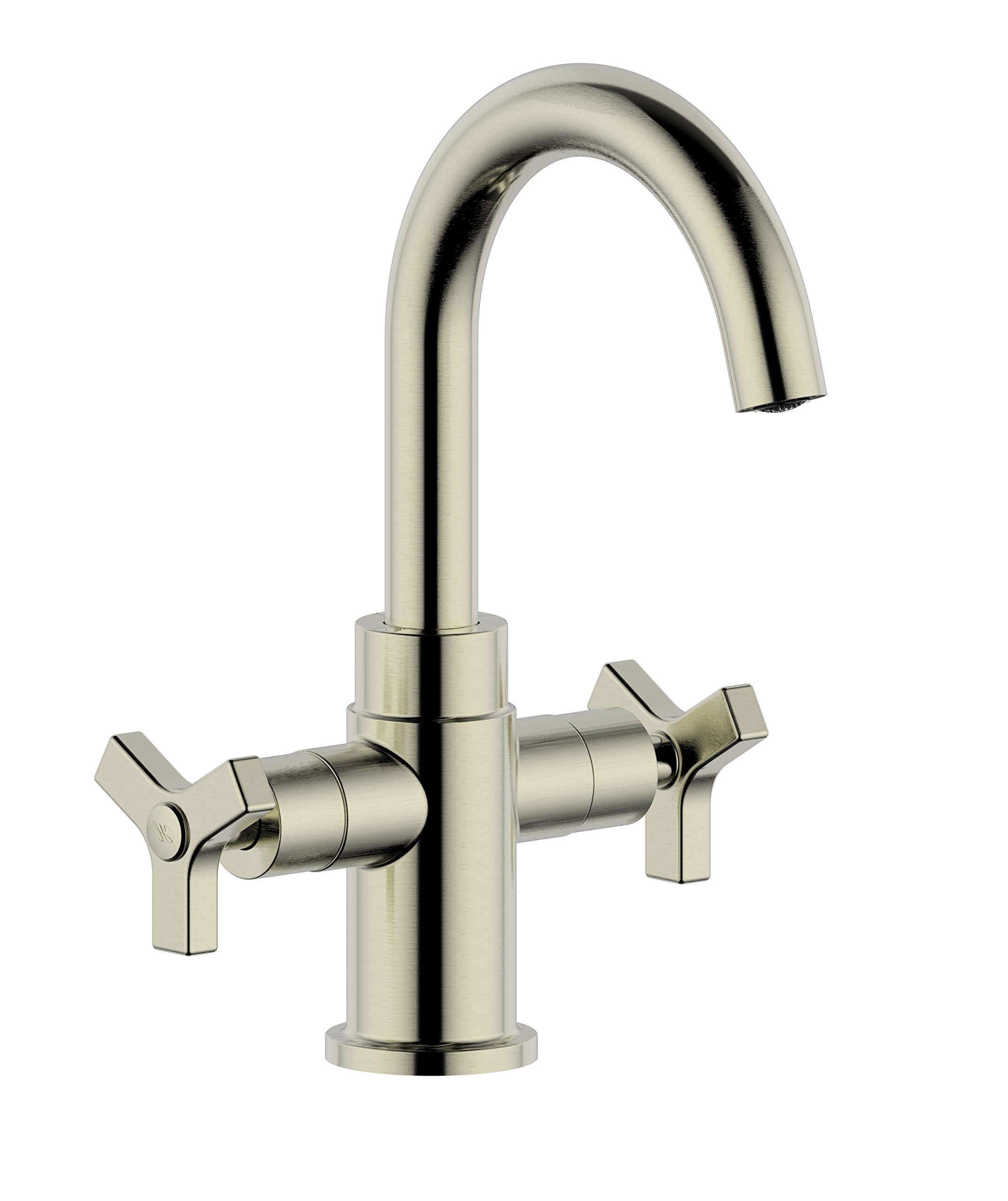 Derengge F-0081-BN Two-Handle Single Hole Bathroom Sink Faucet, Meets cUPC NSF 61-9 AB1953 Lead Free, Brushed Nickel Finished