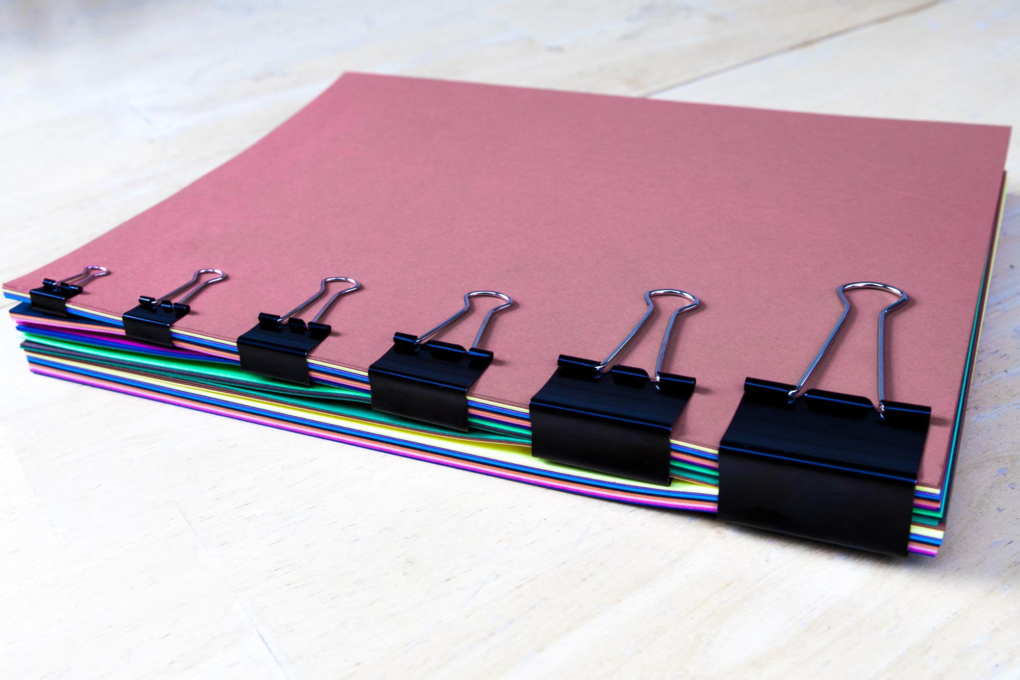 Loon Online Binder Paper Clips, Assorted Sizes (Black, 100 Per Box) by Loon Online (Image #5)