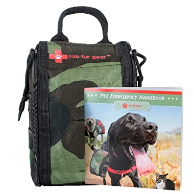 FabFur Gear Dog First Aid Kit | VET Approved Pet Emergency Kit | Dog Travel Essentials for Puppy Hiking, Dog Camping | Smart Pet Hiking Gear with Dog Emergency Collar, Dog Bandages | Dog Home Supplies