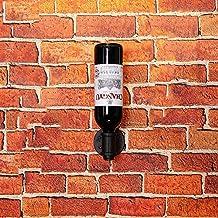 Wine bottle holder wall mounted Creative Metal [decoration] Wine shelf Wine rack Wine display Stands gifts-Bronze