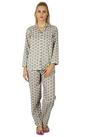 1c9e63aec1 Image Unavailable. Image not available for. Colour  Bimba Women Cotton  Night Wear Pajama Set Printed Full Sleeve Shirt with Pyjamas