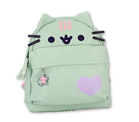 Amazon.com | Officially Licensed Pusheen Character Cat Face Mint Mini Backpack | Kids Backpacks