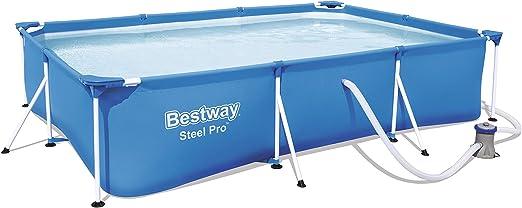 Bestway 56411 - Piscina Desmontable Tubular Infantil Deluxe Splash Frame Pool 300x201x66 cm Depuradora de cartucho de 1.249 litros/hora: Amazon.es: Jardín