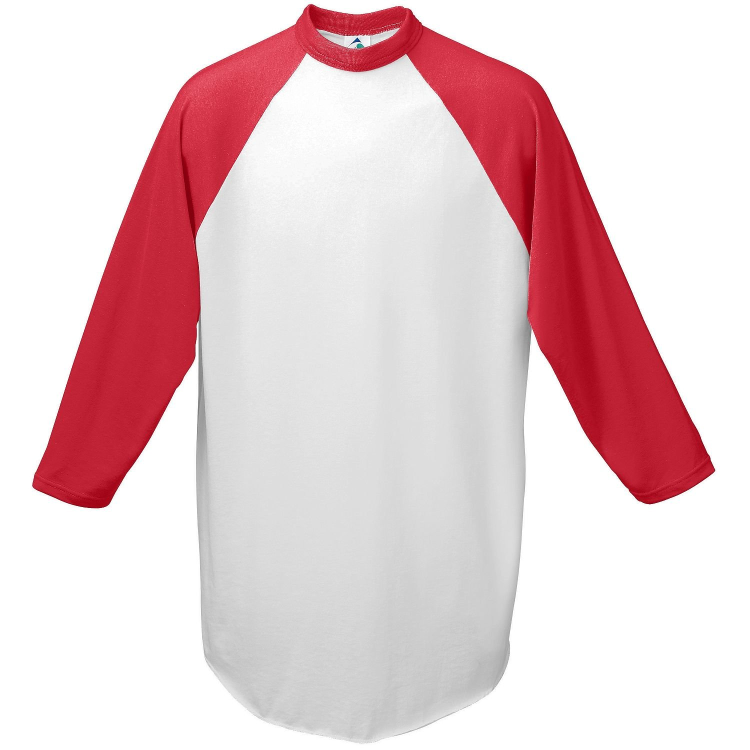 Augusta-Baseball Jersey Raglan 3//4 sleeves~White//Red~Youth-MD