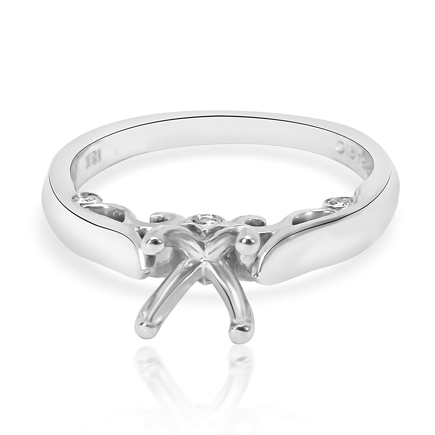 018f0cc4ac43a Verragio Insignia Diamond Engagement Ring Setting in 18K White Gold ...