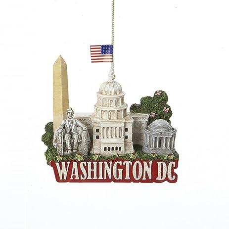 Amazoncom 325 Glittered US City Travel Washington DC Christmas