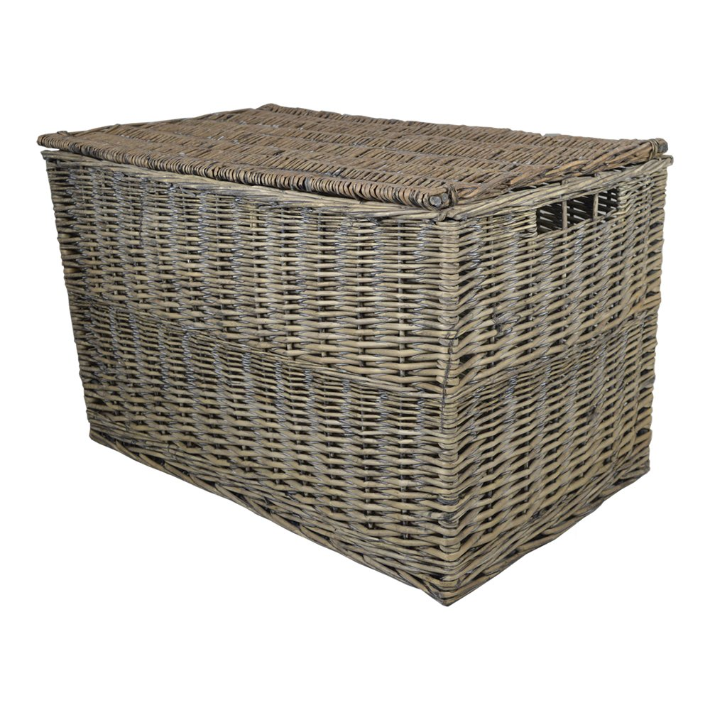 Grey Wicker Large Storage Hamper / Trunk / Basket / Toy Box / Gift Hamper:  Amazon.co.uk: Toys U0026 Games