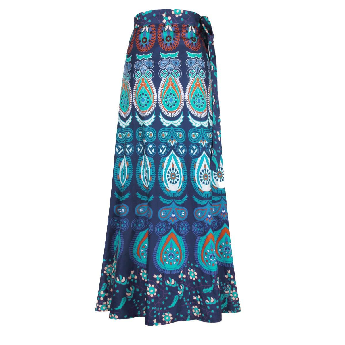 Falda Mujer Primavera Verano Fashion Impresión Falda Maxi Etnica ...