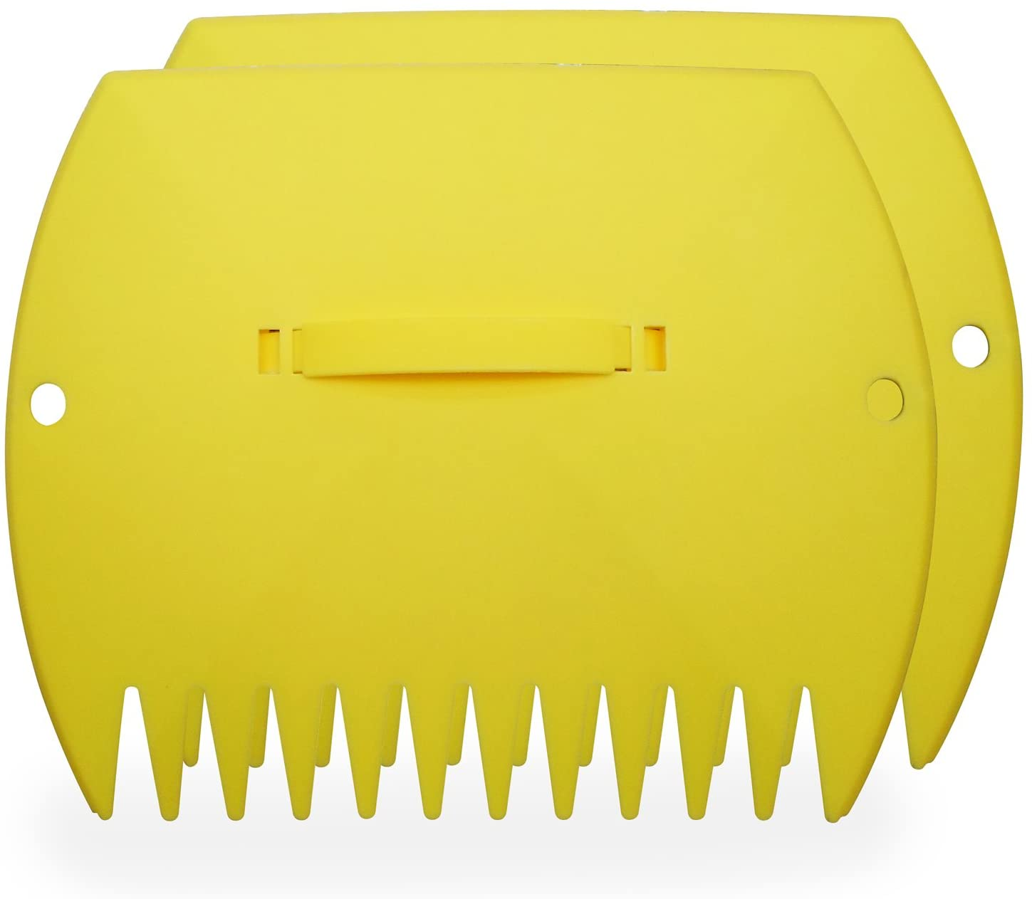 Garden and Yard Leaf Scoops Hand Rakes, Large Sized, Multiple Use for Leaves, Lawn Debris and Trash Pick Up Good Use 1 Pair : Garden & Outdoor