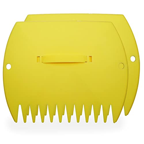 GARDENHOME Leaf Scoops, Large Hand Held Rakes, Collect Leaves, Grass, Lawn Cuttings Instantly Quick and Easy 2 Pack