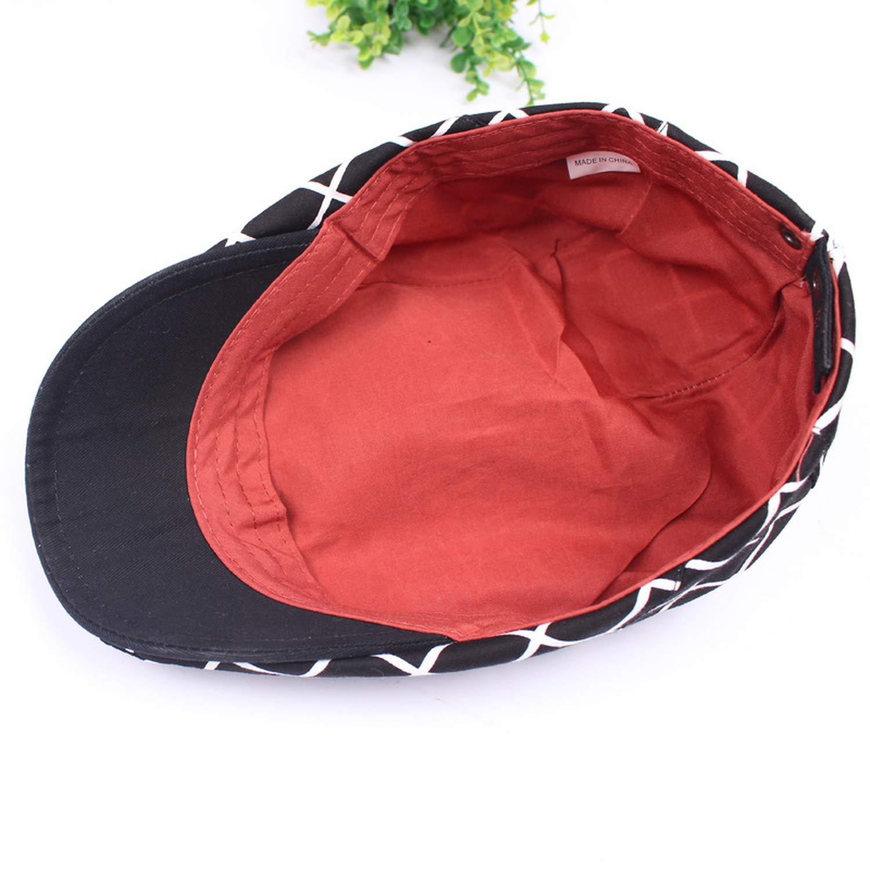 Fancy Plaid Flap Newsboy Caps Men Women Spring Summer Duckbill Ivy Adjustable Gorras Planas Hat Beret