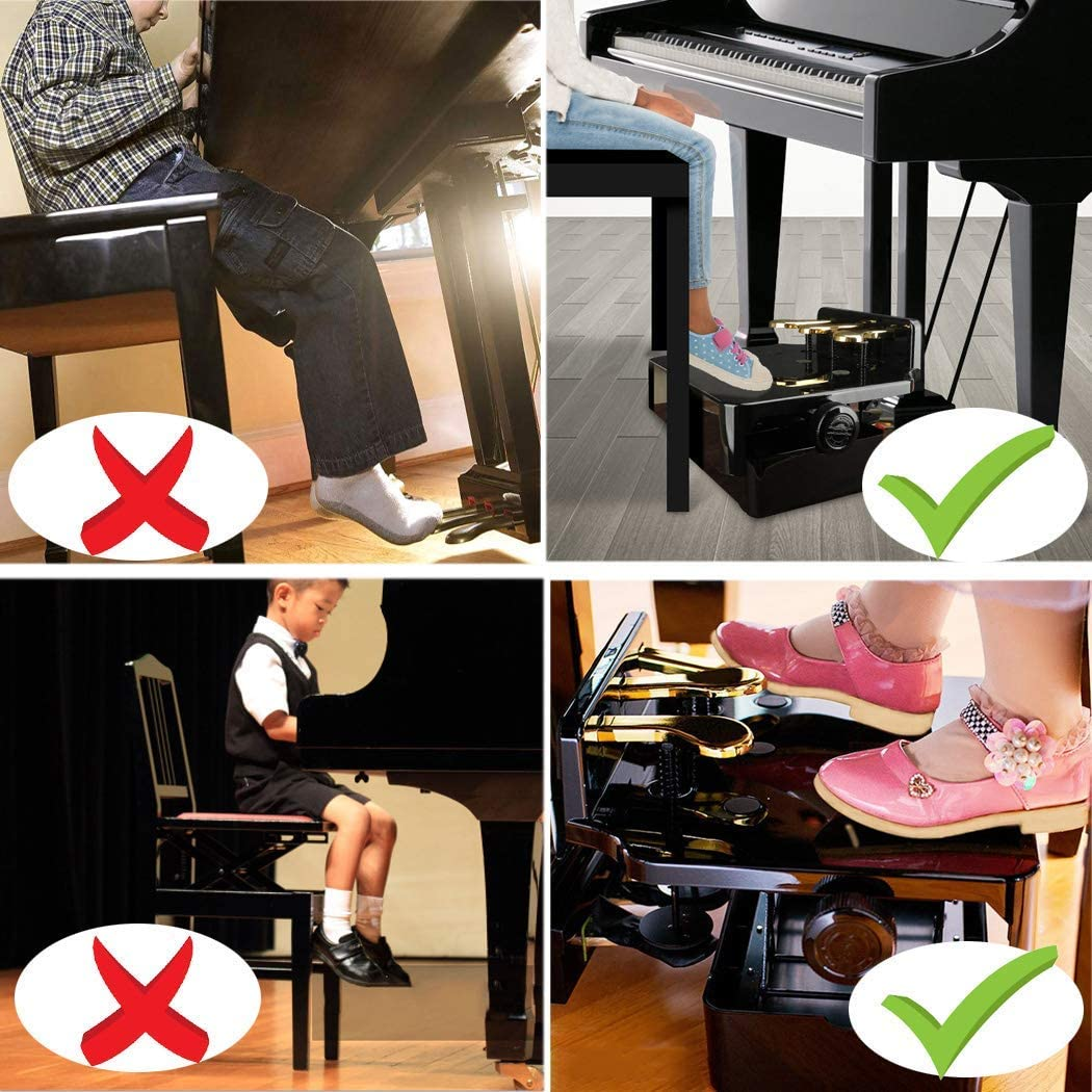 E-Piano Foot E-Piano Keyboard 3 Pedals Sustain Pedal Synthesizer Main Pedal Piano Pedal Extender for Children