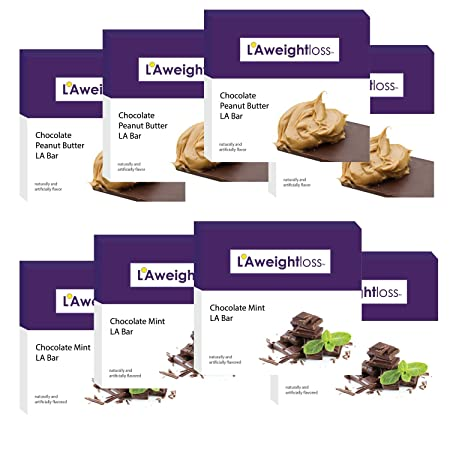 LA Weight Loss Bars – Chocolate Peanut Butter Chocolate Mint – 8 Boxes