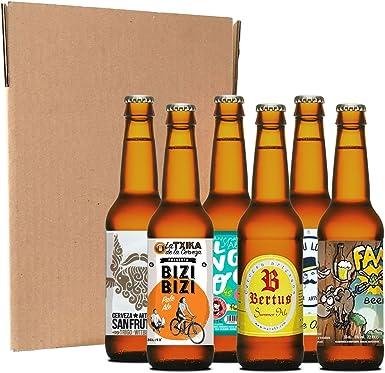 Pack de iniciación a la cerveza artesana (6 botellines/latas de 33 ...