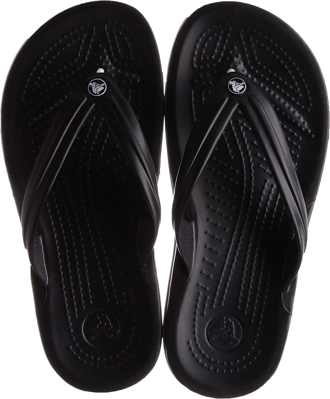 Mens 9 M US//Womens 11 M US White Crocs Unisex Crocband Flip