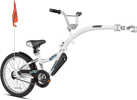 WeeRide 86455 Bicicleta Remolque Copilot, Niños, Blanco, M: Amazon ...