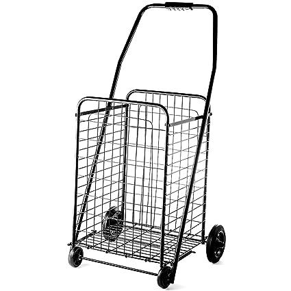 Plegable Carrito De La Compra Jumbo Tamaño grande cesta con ruedas para la colada Grocery viaje