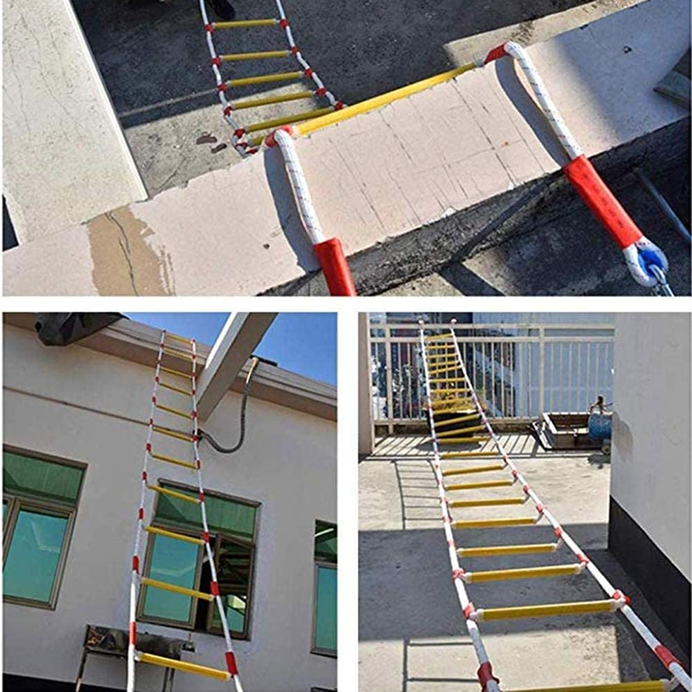 Wrwgl Las escaleras de Cuerda seguras Son fáciles de Usar - despliegue rápido - Las escaleras de Cuerda Son Muy seguras - la Capacidad de Carga de la Escalera de Emergencia es