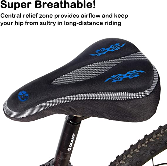 GLR Bike Saddle Cushion with Waterproof Resistant Cover