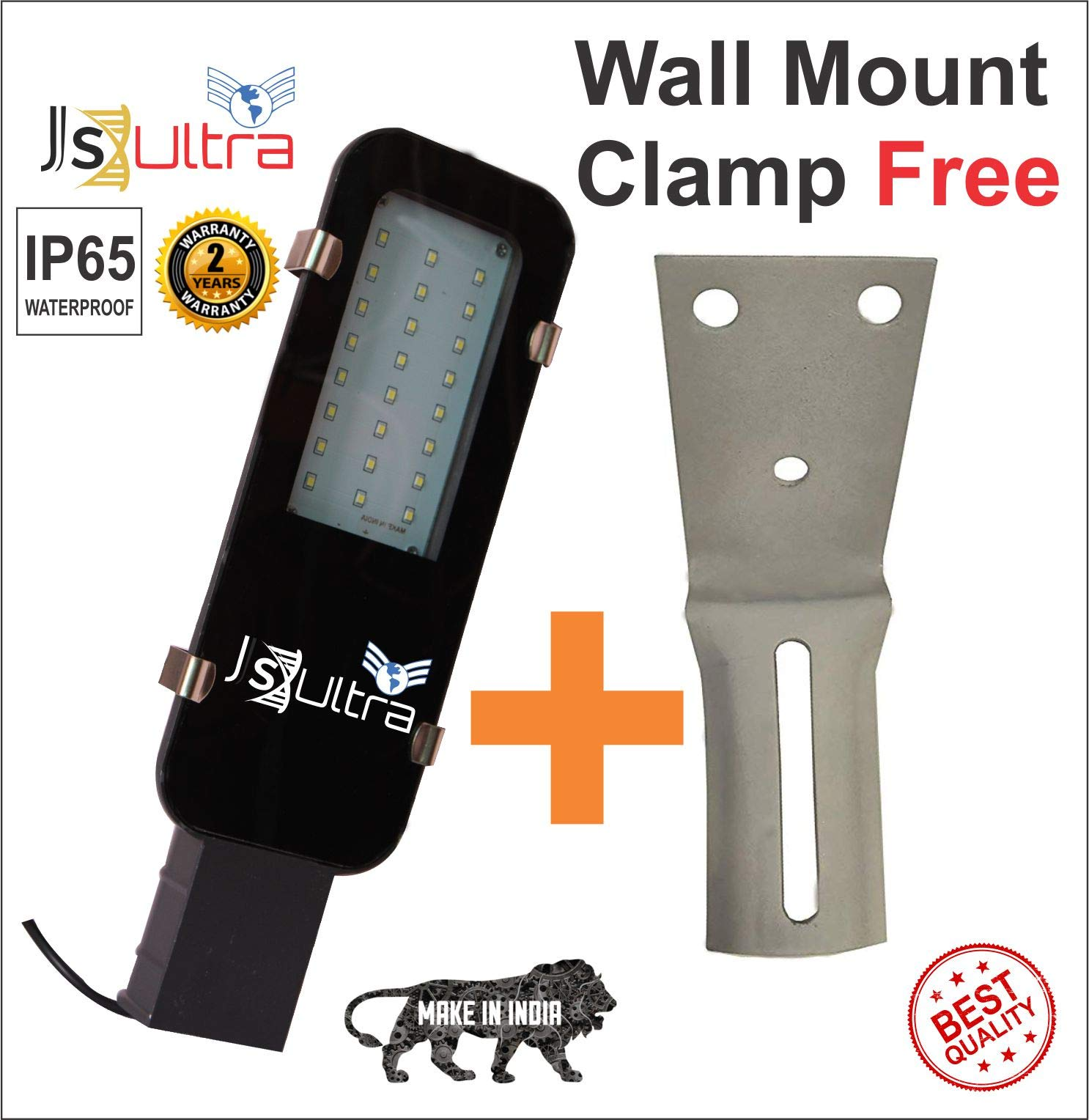 JS ULTRA SYSTEM 26 Watt Waterproof IP65 LED Street Light SMD (White) product image