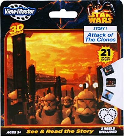 Attack of the Clones 3 Reel Set View-Master Star Wars Story 1