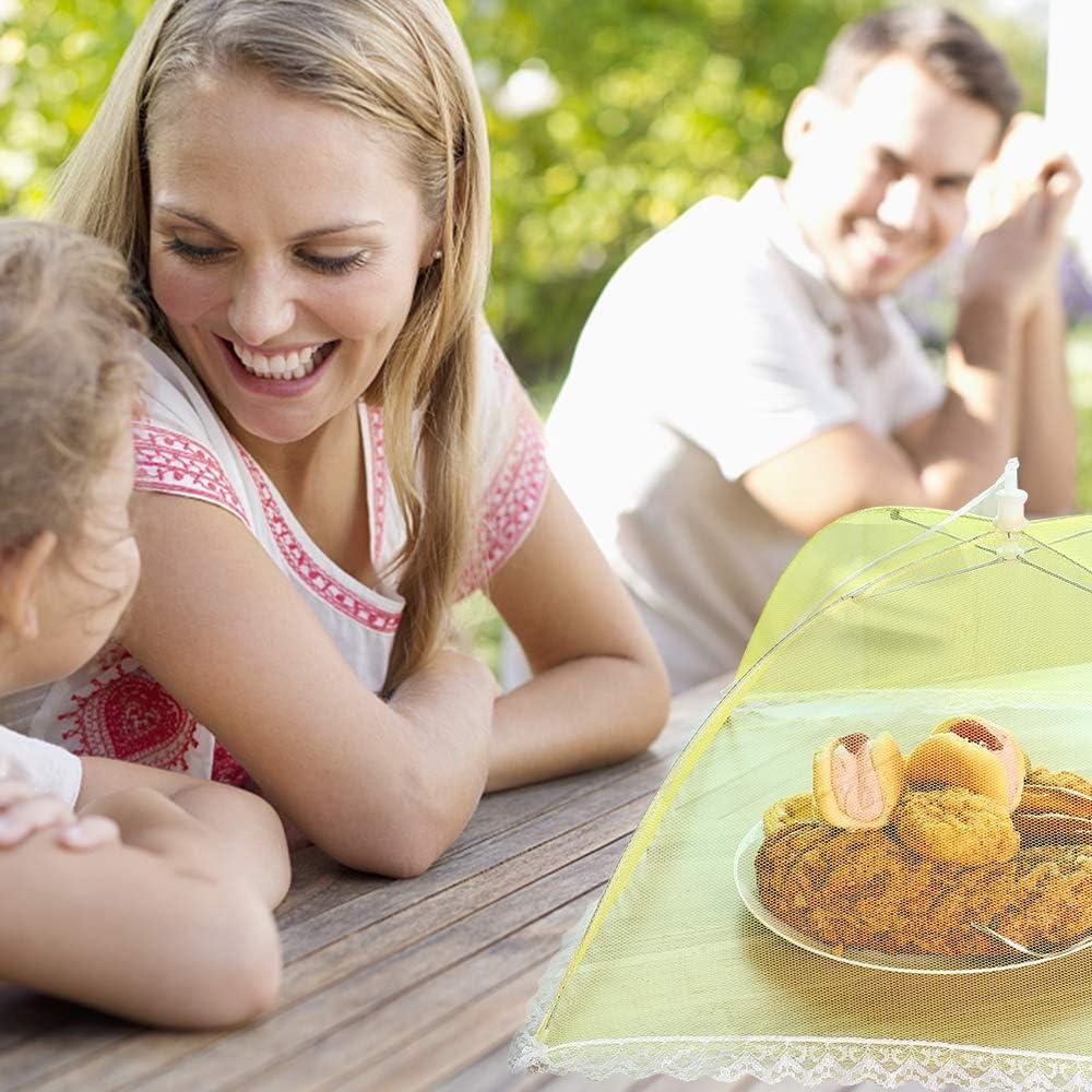 DazSpirit 4 Pacchi Coprivivande Rete Alimenti Coprivivande In Rete Impedire Mosche Zanzare Insetti Vola Formica Per Cibo Dolci Torta Frutta Verdura Cucina Casa Allaperto
