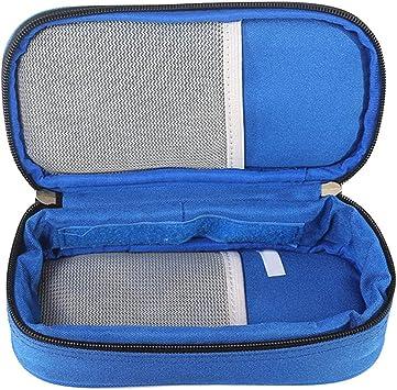 Supvox Enfriador de insulina Bolso Epipen Estuche Diabético Organizador Enfriador de viaje médico con 2 bolsas de hielo (azul): Amazon.es: Salud y cuidado personal