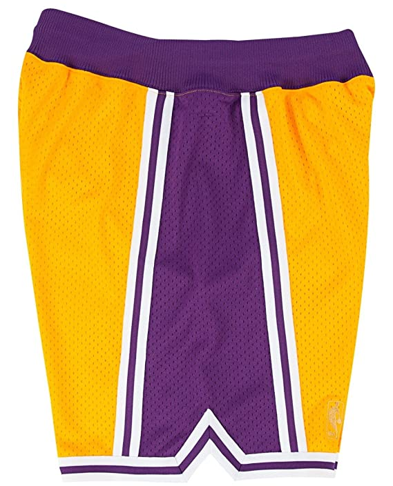 Amazon.com   Los Angeles Lakers Mitchell and Ness Authentic Gold 1996-97  Shorts   Sports   Outdoors fed8856bf
