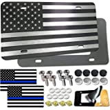Aootf American Flag License Plate- Novelty Patriotic Pledge of Allegiance Auto Car Tag, Personalized Aluminum USA Front Plate