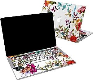 Lex Altern Vinyl Skin for MacBook Air 13 inch Mac Pro 16 15 Retina 12 11 2020 2019 2018 2017 Cute Birds Flowers Garden Bloom Hummingbird Exotic Print Girl Touch Bar Cover Keyboard Decal Sticker