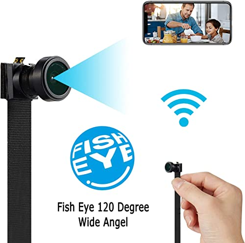 Spy Camera WiFi Wireless Hidden Camera Mini HD 4K Cam Small Nanny Camera 120-Degree Wide-Angle Lens Security Camera for Home and Outdoor with Cell Phone APP