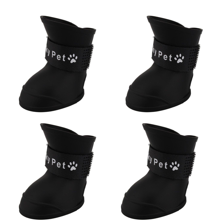 Pinzhi Botas De Lluvia Para Perros Portátiles Little Pet Gato Zapatos De Nieve Para Perros Pequeños - L