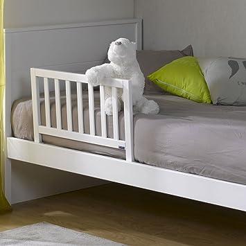 74e2a347bcc4f IDKID S Barriere DE Lit Enfant en Bois - Blanc 70cm  Amazon.fr ...