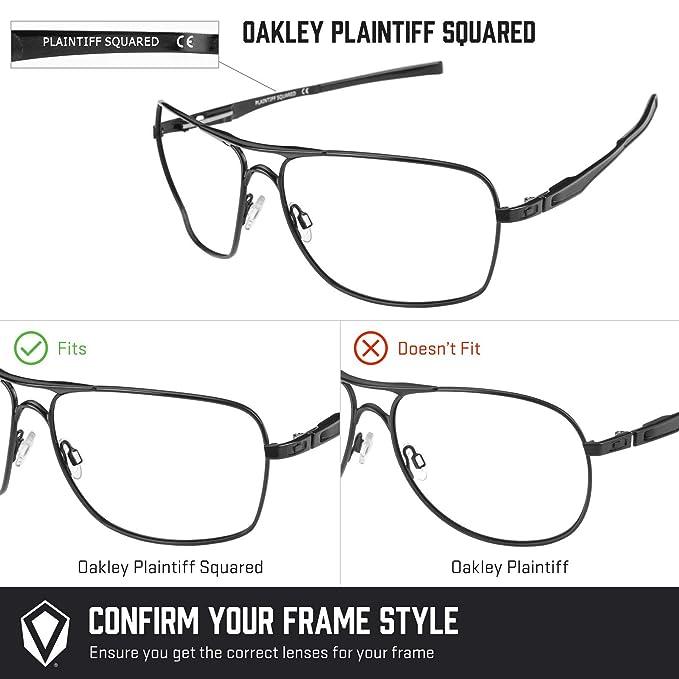 082b5a4e98 Revant Polarized Replacement Lenses for Oakley Plaintiff SquaredBlack  Chrome MirrorShield at Amazon Men s Clothing store