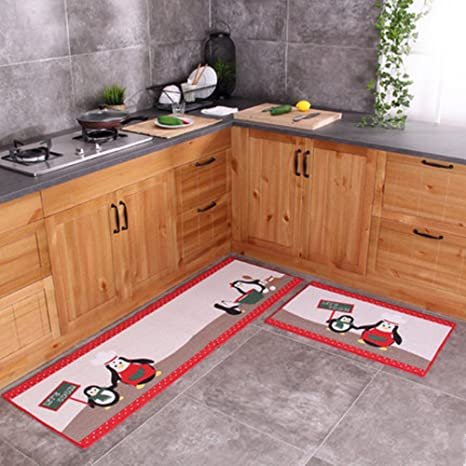 Amazon.com: Ustide Newly 2-Piece Kitchen Rug Set, kitchen Floor Rug ...