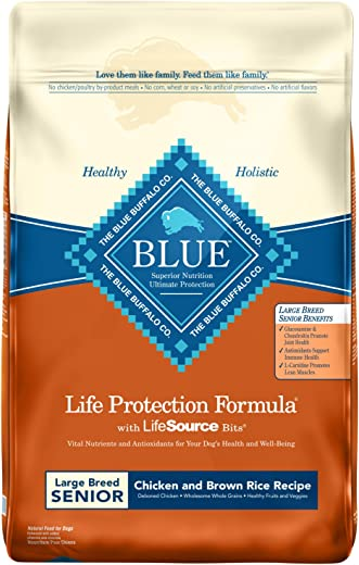 Blue Buffalo Life Protection Formula Natural Senior Large Breed Chicken and Brown Rice Dry Dog Food
