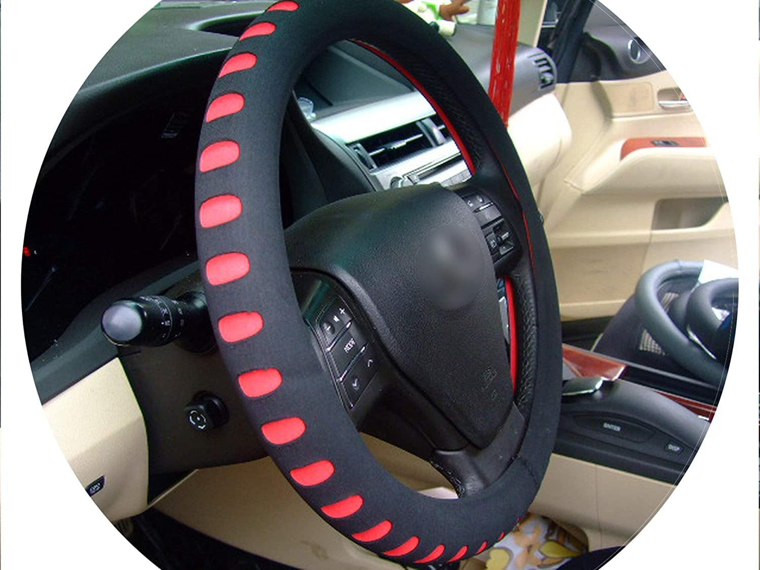 amazon com eva punching red car steering wheel cover 38cm universalamazon com eva punching red car steering wheel cover 38cm universal auto steering wheel covers car interior accessories,red sports \u0026 outdoors