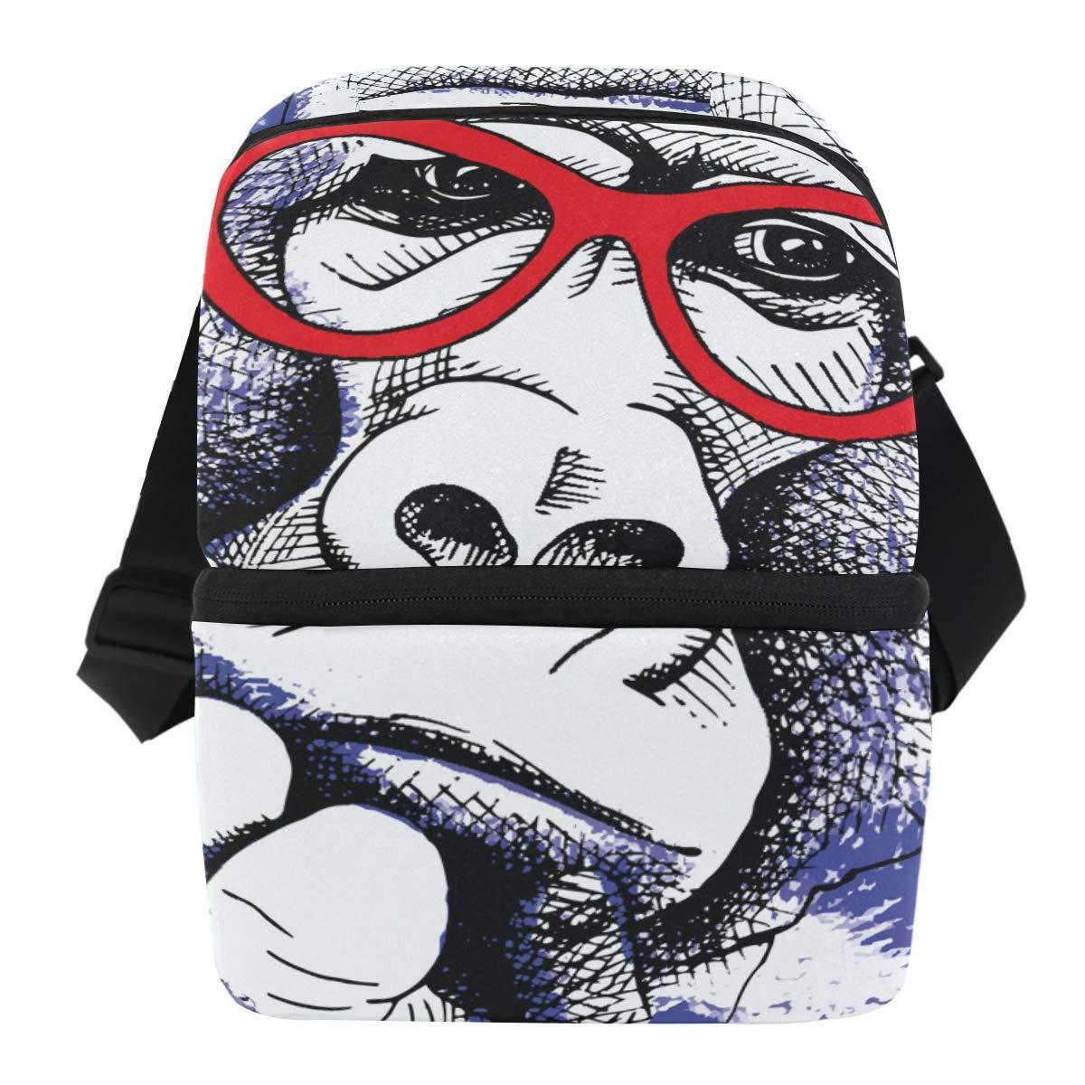 56577a6dd85f Amazon.com: Funny Orangutan Cartoon Insulated Lunch Bag for Women ...