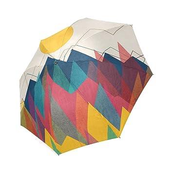 Personalizado Uphill Battle moda paraguas plegable paraguas de viaje