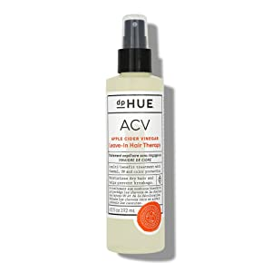 dpHUE Apple Cider Vinegar Leave-In Hair Therapy, 6.5 oz - Lightweight Leave In Primer Spray & Hair Detangler - Argan & Macadamia Oil, Aloe Vera & Dandelion Extract - UV, Heat & Color Protection