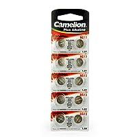 10 Camelion LR44 / A76 / AG13 pile bouton, longue durée de conservation (date d'expiration marque)