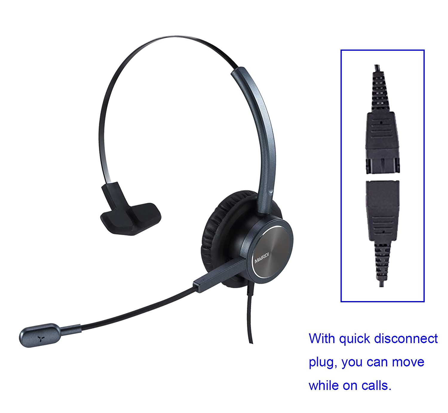 RJ9 Cisco Headset for Telephone With Noise Cancelling Microphone