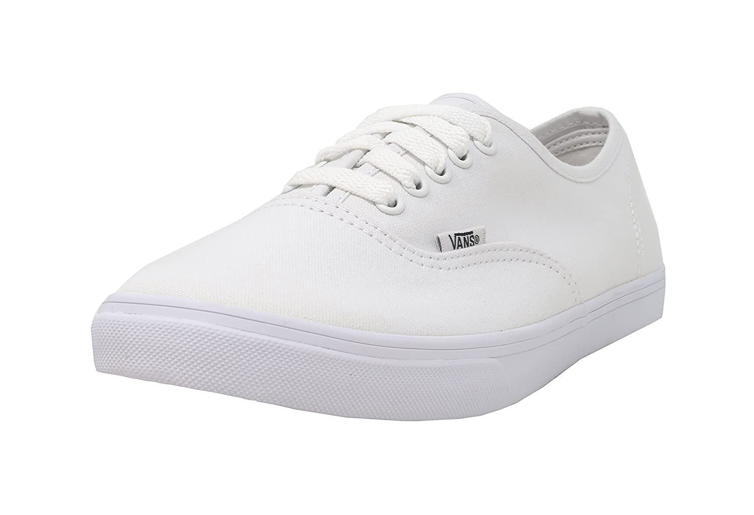 Vans Classic Authentic Lo Pro Womens Trainers Sneakers (True White/True  White)