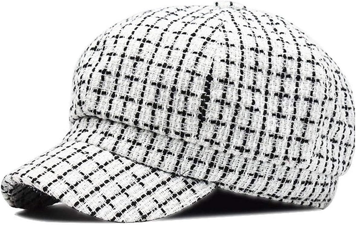 Plaid Newsboy Hat Women...
